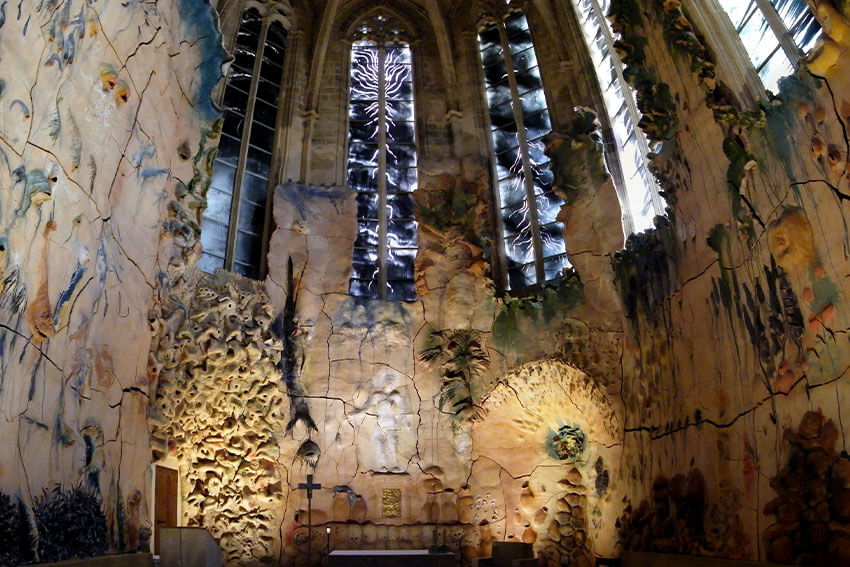 Miguel Barcelo work in Palma Cathedral
